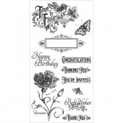 Time to Flourish - Cling Stamp 1